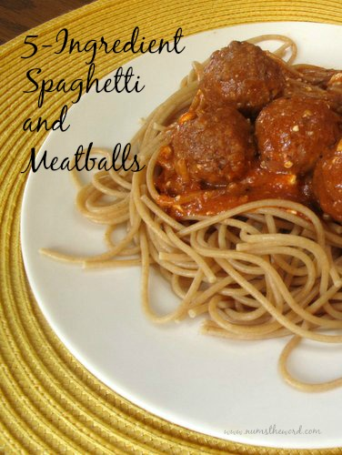 5 Ingredient Spaghetti and Meatballs