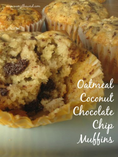 Oatmeal Coconut Chocolate Chip Muffins