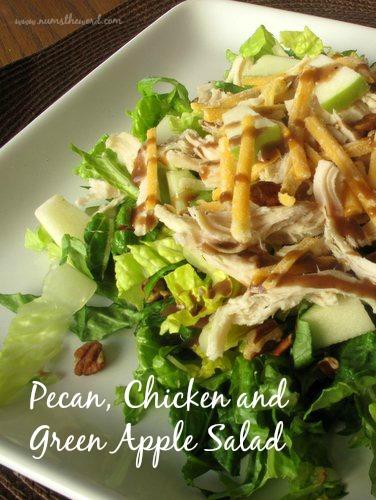 Pecan, Chicken and Green Apple Salad