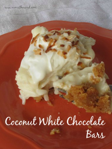 Coconut Cream Pie White Chocolate Bars