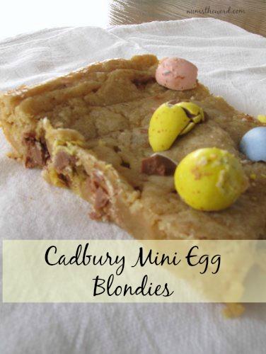 Cadbury Mini Egg Blondies