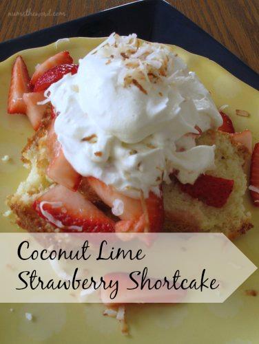 Coconut Lime Strawberry Shortcake
