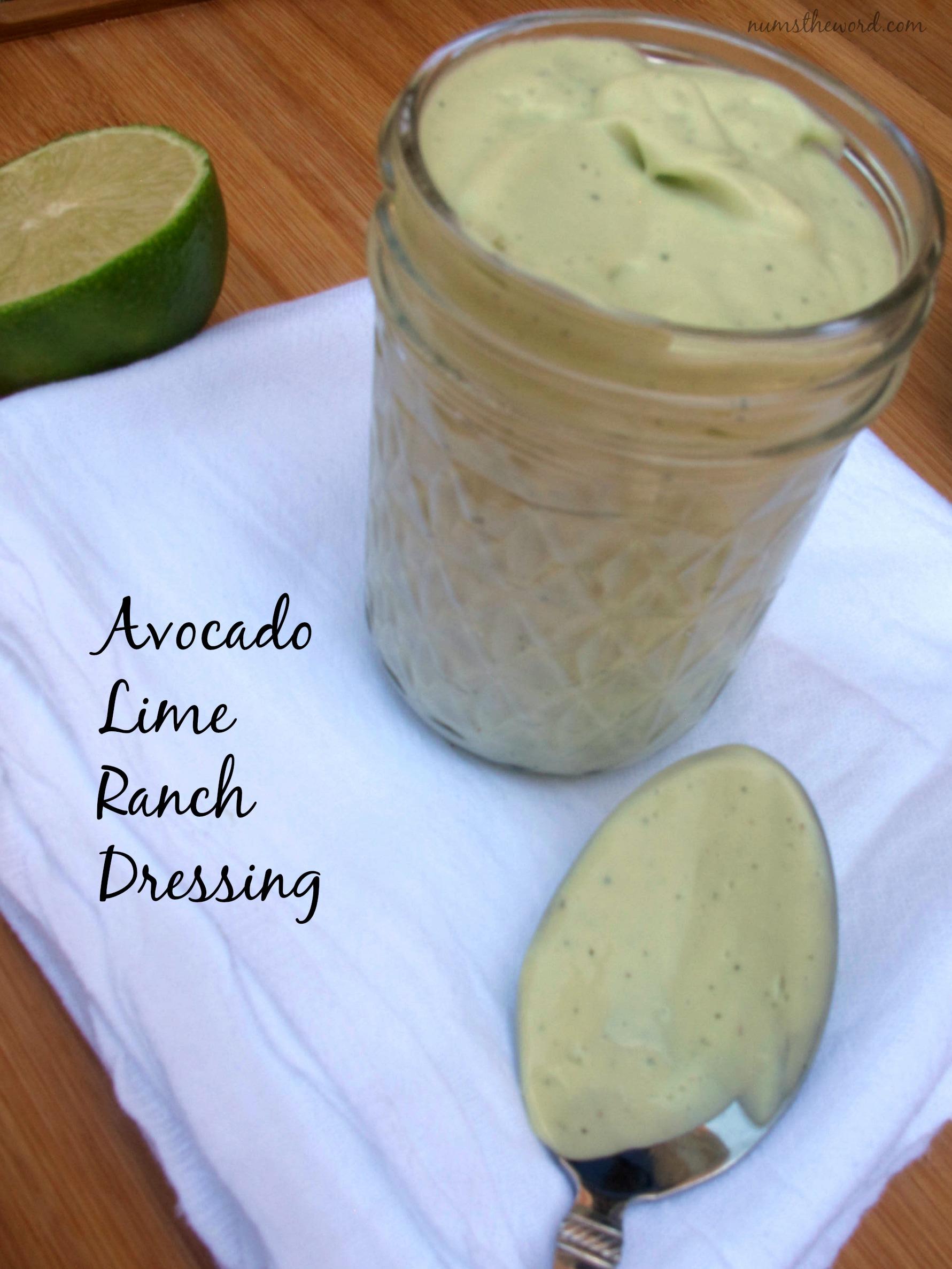 Avocado Lime Ranch Dressing