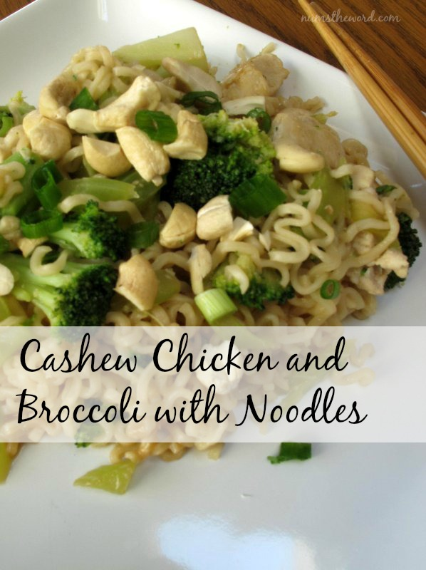 Cashew Chicken and Broccoli with Noodles