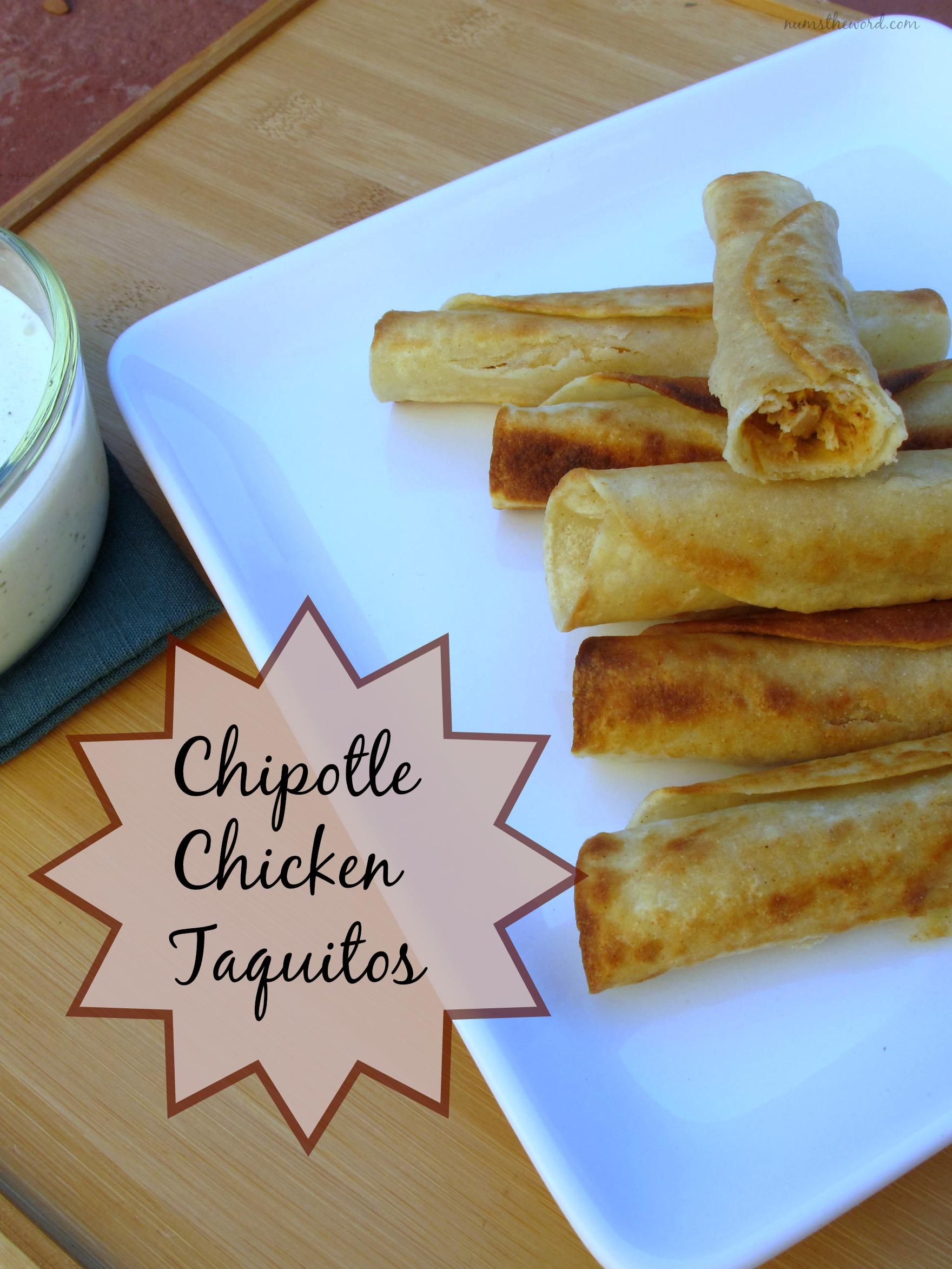 Chipotle Chicken Taquitos