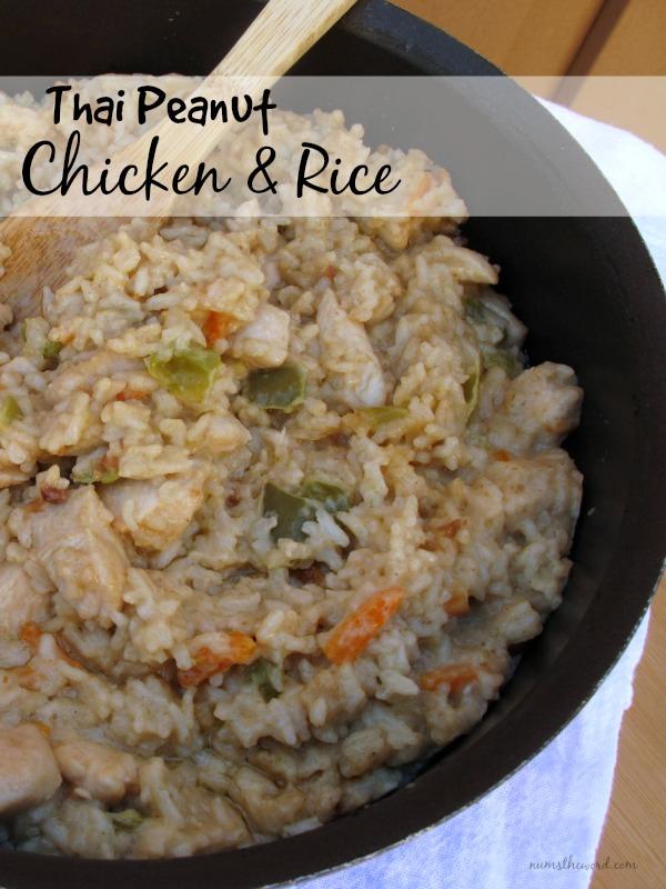 Thai Peanut Chicken and Rice