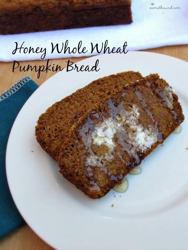 Honey Whole Wheat Pumpkin Bread