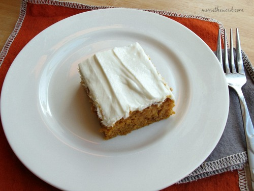 Pumpkin Bars with Whipped Cream Cheese Frosting