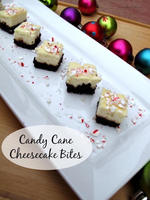 Candy Cane Cheesecake Bites