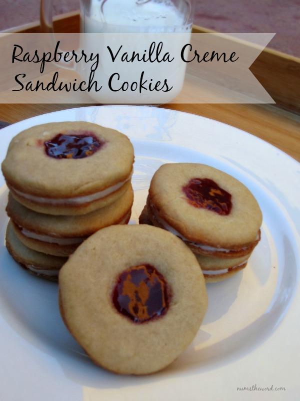Raspberry Vanilla Creme Sandwich Cookies
