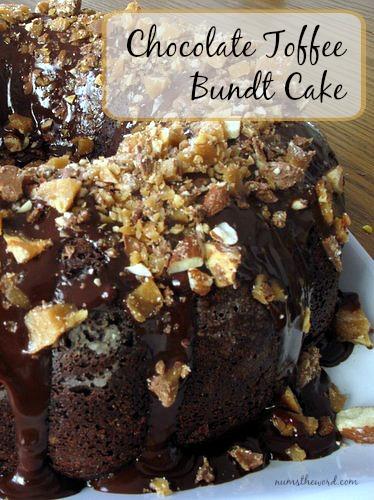 Chocolate Toffee Bundt Cake