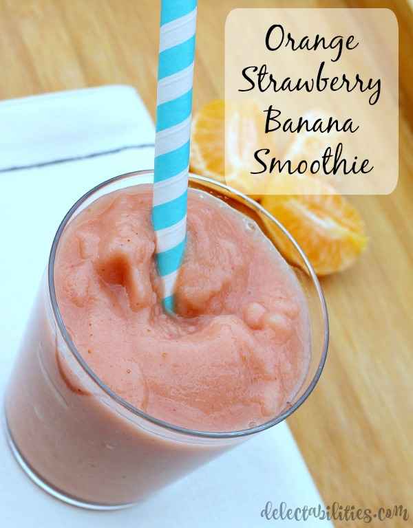 Orange Strawberry Banana Smoothie