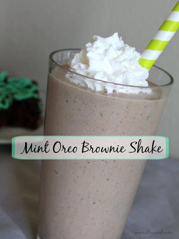 Mint Oreo Brownie Shake