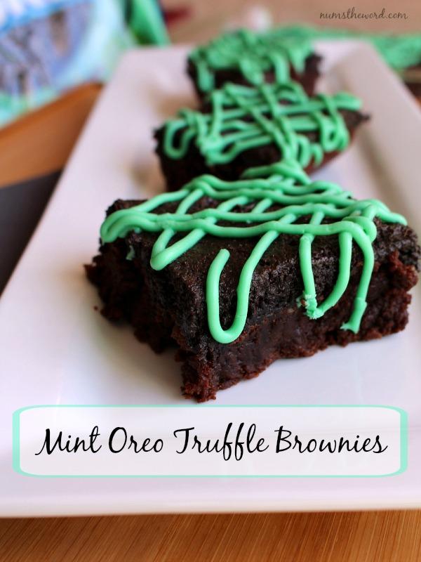 Mint Oreo Truffle Brownies