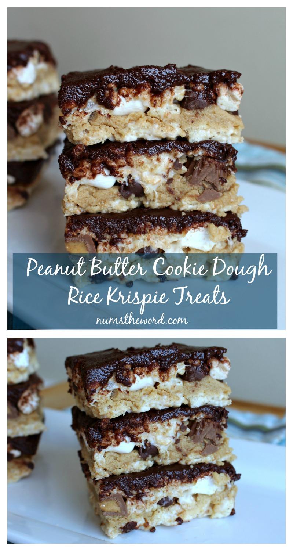 Peanut Butter Cookie Dough Rice Krispie Treats
