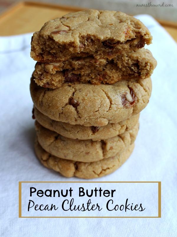 Peanut Butter Pecan Cluster Cookies