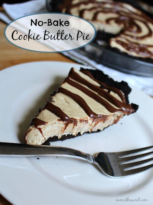 No-bake Cookie Butter Pie