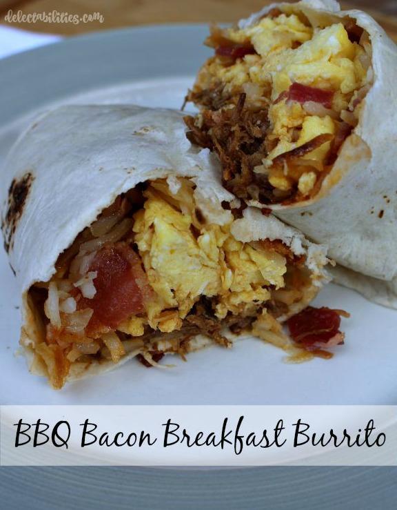BBQ Bacon Breakfast Burrito