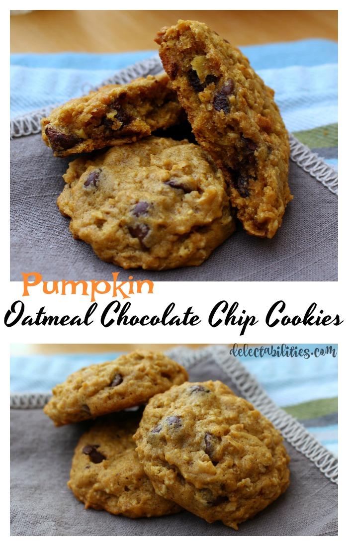 Oatmeal Pumpkin Chocolate Chip Cookies