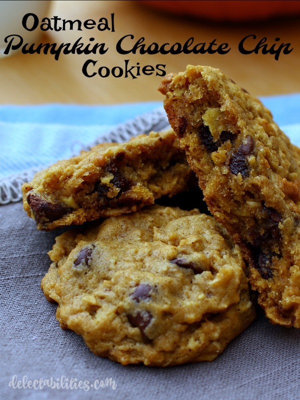 Oatmeal Pumpkin Chocolate Chip Cookies